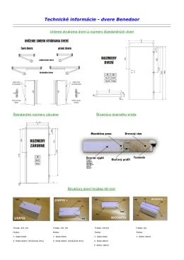 Technické informácie - dvere Benedoor