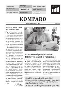 KOMPARO - Pomocník dobrých škôl
