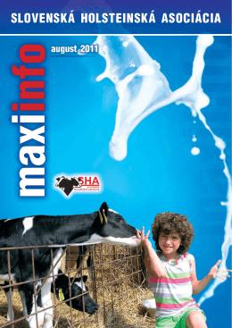 MaxiInfo 08/2011 - Slovenská holsteinská asociácia