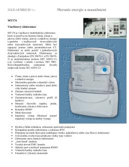 Technický list MT174 - DALI-MN