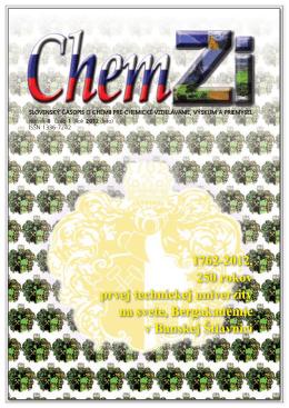 obal 7_14.indd - Slovenská chemická spoločnosť