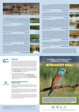 Poster o chránených vtáčích územiach Nitrianskeho