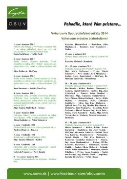 Výhercovia súťaže 2014 Súbor na stiahnutie