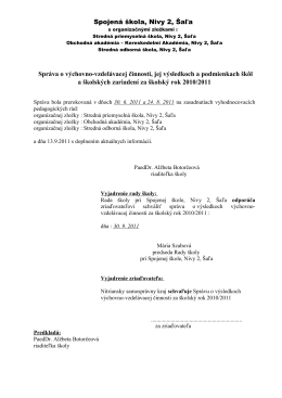 Vyhodnocovacia správa