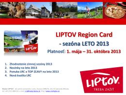 leto 2013 - Klaster LIPTOV