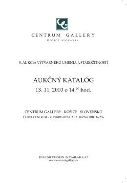 AUKČNÝ KATALÓG - centrumgallery.sk