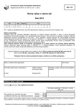 Ryb 1-01 - Štatistický úrad SR