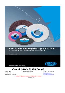 Cenník 2014 - EURO Cenník