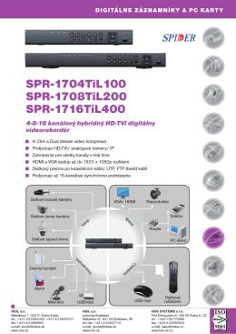 SPR-1704TiL100 SPR-1708TiL200 SPR