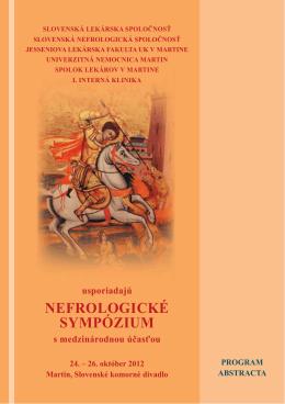 Program sympózia.