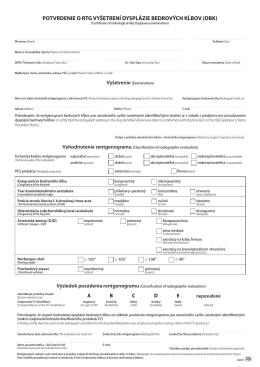 Tlačivo pre posúdenie DBK – vo formáte PDF.