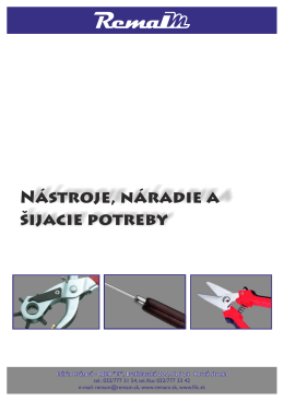 Nástroje, náradie a šijacie potreby