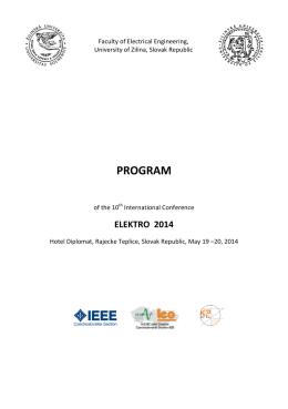 PROGRAM - Elektro 2014