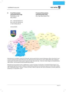 VÚC NITRA - Obce.info
