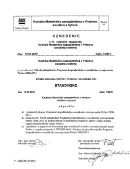 Uznesenia z 11. riadneho zasadnutia Komisie MsZ sociálnej a bytovej