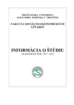 Fakulta sociálno-ekonomických vzťahov do brožúry