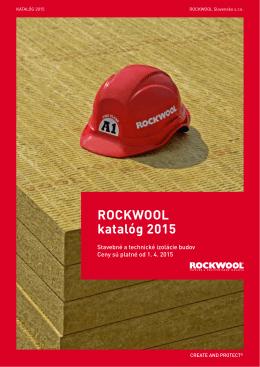 Cenník ROCKWOOL platný od 1.4.2015