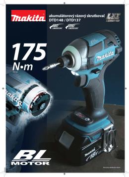 akumulátorový rázový skrutkovač DTD148