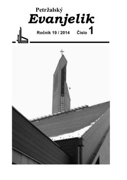 Petržalský evanjelik č. 1/2014 - Cirkevný zbor Evanjelickej cirkvi av