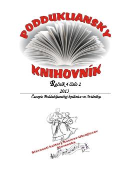 Ročník 4 číslo 2 - Podduklianska knižnica vo Svidníku