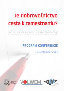 Program konferencie na stiahnutie - Volwem