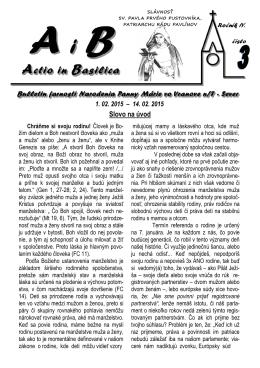 Actio in Basilica 2015 č.3