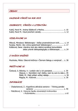 č. 38 – 39 /2014 - Verejná knižnica Mikuláša Kováča Banská Bystrica