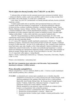 Rok 2011 - Obec Čaklov