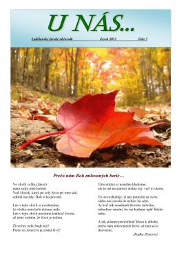 Jeseň 2013 (číslo 5) - Farnosť Ladce