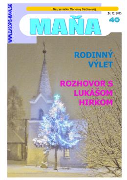 23.12.2013 120ks - Rodinný časopis MAŇA