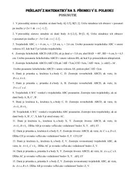 príklady z matematiky na 3. písomku v ii. polroku posunutie