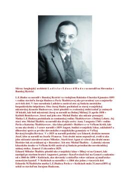 Slávny šanghajský architekt Ladislav Eduard Hudec
