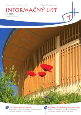 INFORMAČNÝ LIST - Centrum pre rodinu NITRA