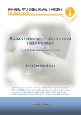 Rizikové správanie v teórii a praxi sociálnej práce