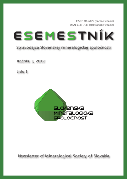Esemestník 1/1 - Slovenská mineralogická spoločnosť