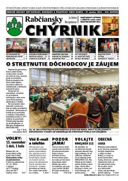 Rabčiansky CHÝRNIK č. 2/2014