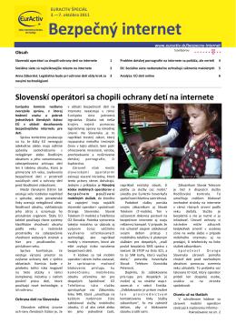 Špeciálny report BEZPEČNÝ INTERNET vo formáte .PDF
