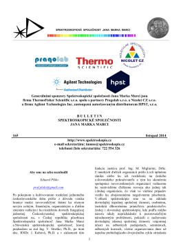 Bulletin č. 165 - Spektroskopická společnost Jana Marka Marci
