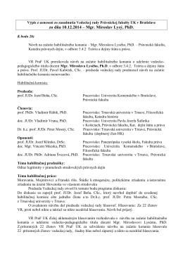 Výpis - Univerzita Komenského