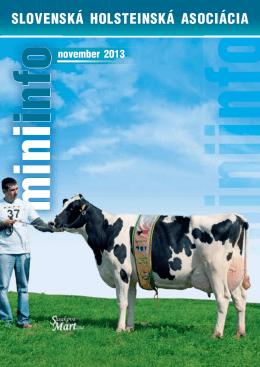 MiniInfo 11/2013 - Slovenská holsteinská asociácia