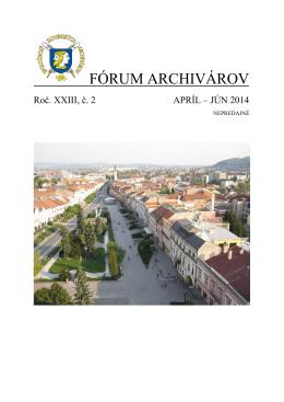 Preview - Spoločnosť slovenských archivárov