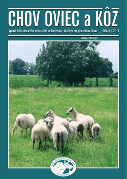 Číslo 03/2013 - Zväz chovateľov oviec a kôz na Slovensku