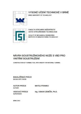 FSI VUT BAKALÁRSKA PRÁCA List - Vysoké učení technické v Brně