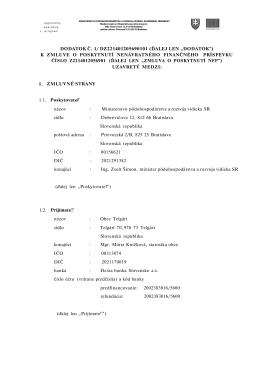 DODATOK Č. 1/ DZ221401205690101 (ĎALEJ LEN