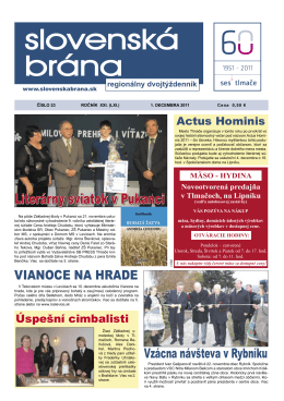2011-23 - Slovenská brána