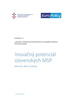 Inovačný potenciál slovenských MSP