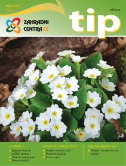TIP Předjaří 2015 - Zahradní centra CS, obchodní družstvo