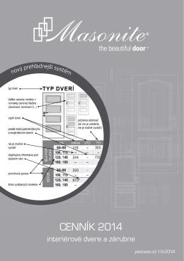 Maloobchodný cenník dverí v pdf