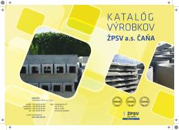 Katalóg betónových výrobkov ŽPSV a.s. Čaňa_2013