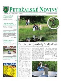 Rok 2011 - Petržalské Noviny